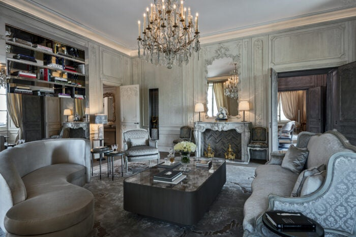 Grand Appartements at Hotel de Crillon designed by Karl Lagerfeld