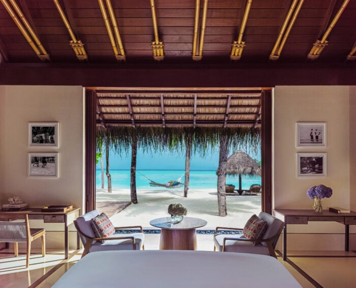 One&Only Reethi Rah Beach villa view
