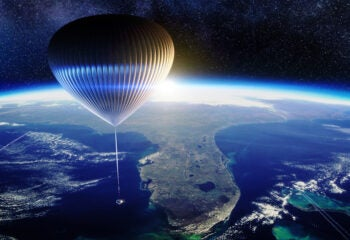 space perspective balloon above earth