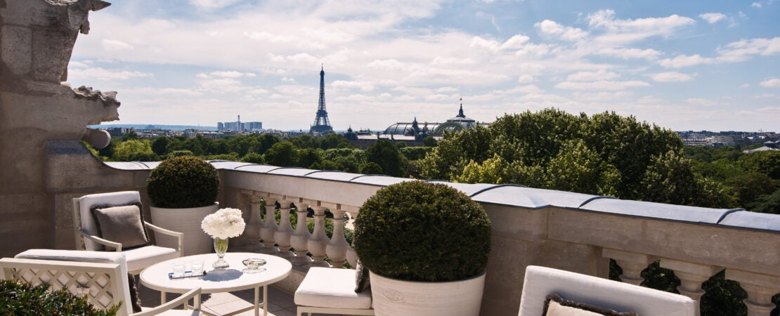 View of Eiffel Tower from Hotel de Crillon Paris