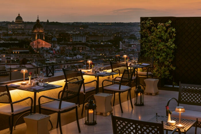Hotel Hassler Roma roof terrace