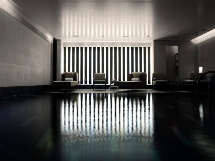 Aman Spa swimming pool at The Connaught