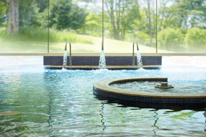 Hydrotherapy pool at Whatley Manor Spa Hotel