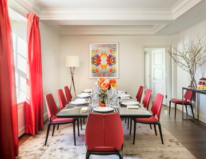 private dining room in the mark five bedroom suite