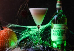 spooky green fairy cocktail