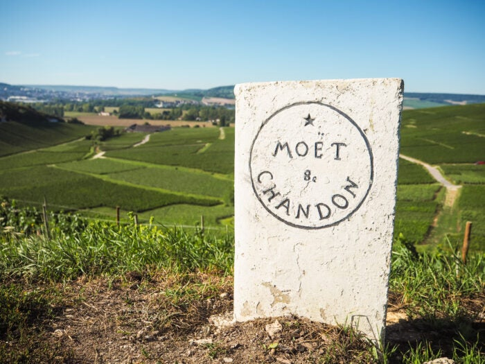 moet and chandon sign in champagne