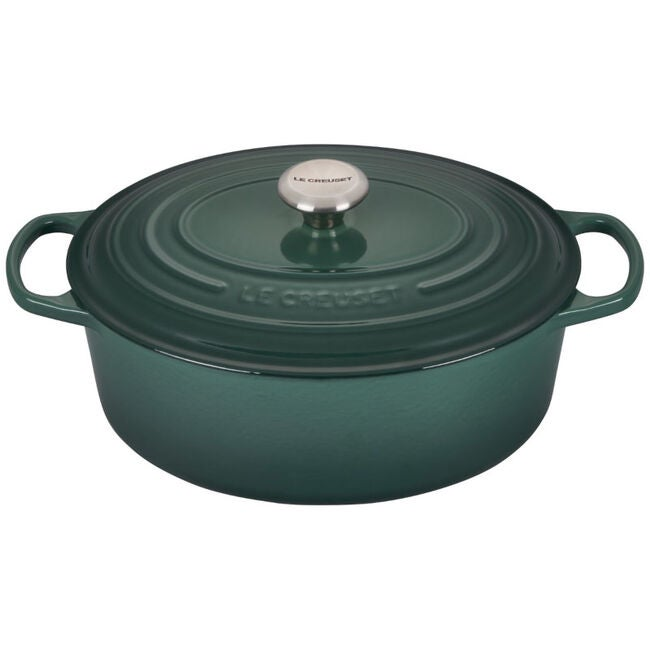 le creuset dutch oven in artichaut