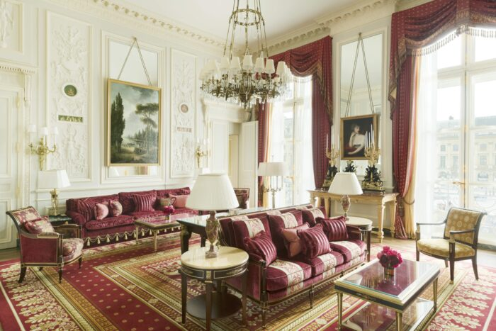 Living room at suite imperiale