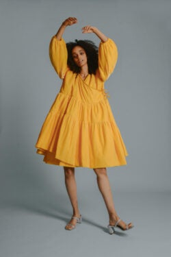 rites auction yellow dress