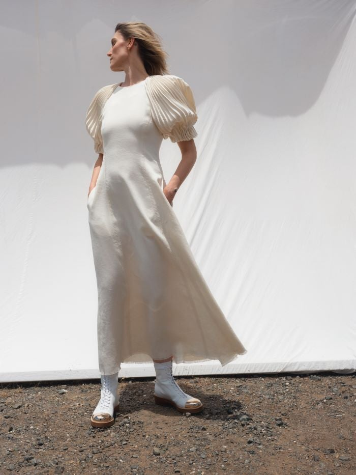 Gabriela Hearst White Puga Dress
