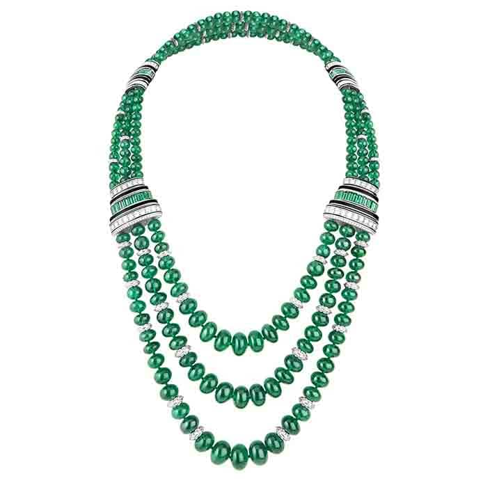 Plastron Emeraudes necklace boucheron