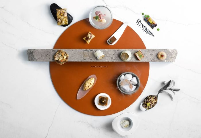 Multiple small dishes from Celler de can Roca