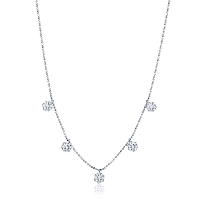 graziela floating diamond necklace for her