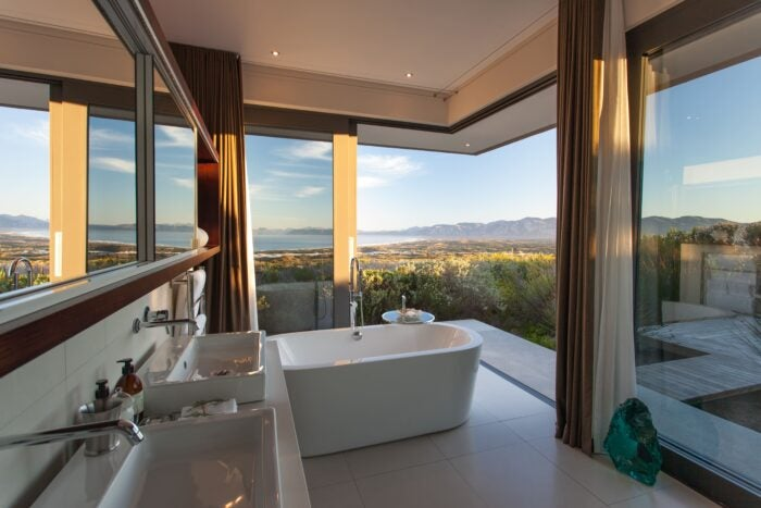 bathroom at grootbos reserve south africa
