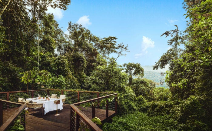 private dining deck at nyungwe house one&only