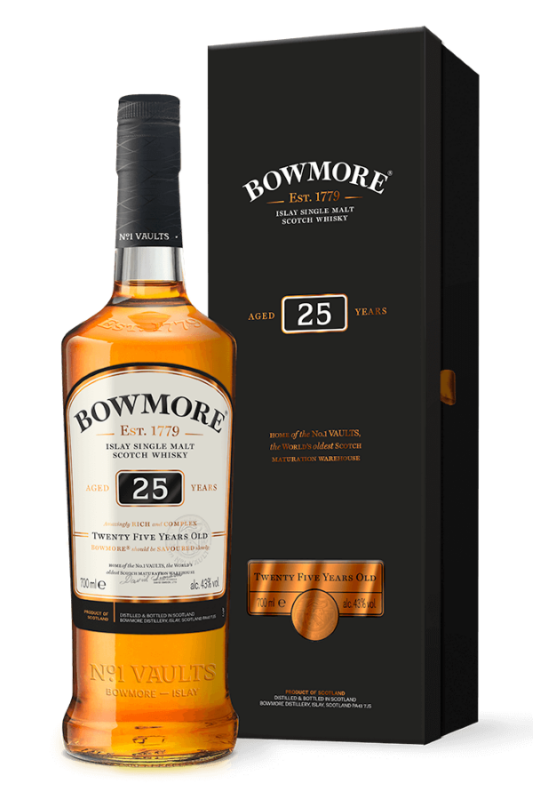 Bowmore 25 year old bottle