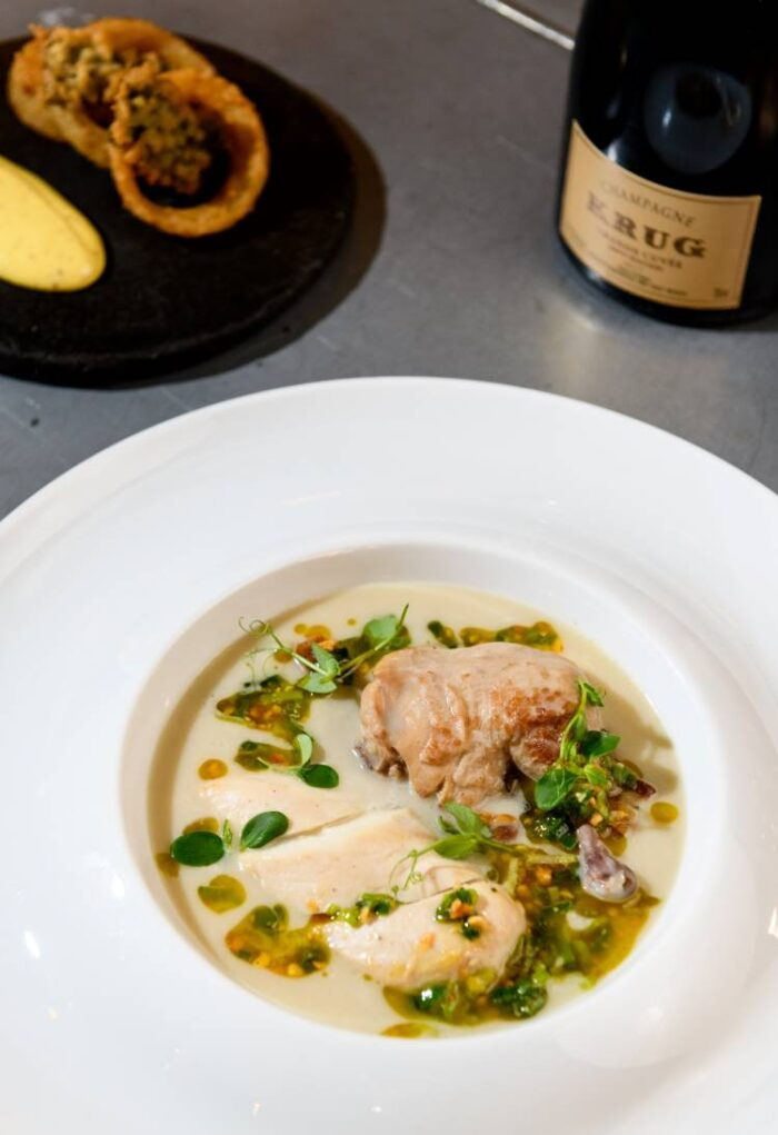 Coq au Champagne on plate