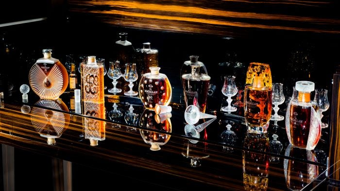 Lalique Macallan collection - one of the most expensive whisky collections sold at auction