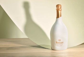 Ruinart bottle in sustainable Second Skin Packaging