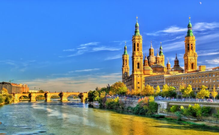 zaragoza cathedral and river view