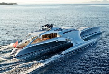 adastra yacht on ocean