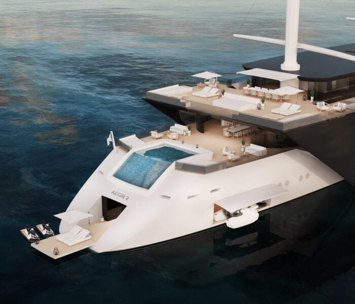aegir 2.0 yacht stern with pool