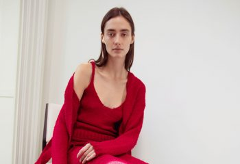 Altuzarra Re-crafted knitted red cardigan and vest