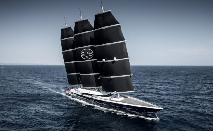 Black Pearl Yacht With Sails