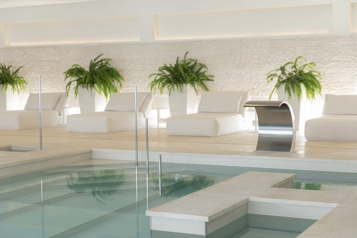 open spa indoor pool area