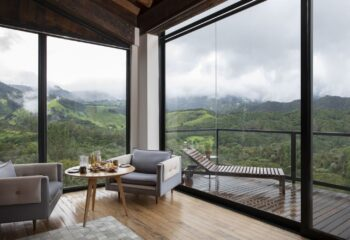 Panorama Suite with views overlooking the green lush mountain lanscape