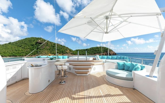 secret yacht top deck