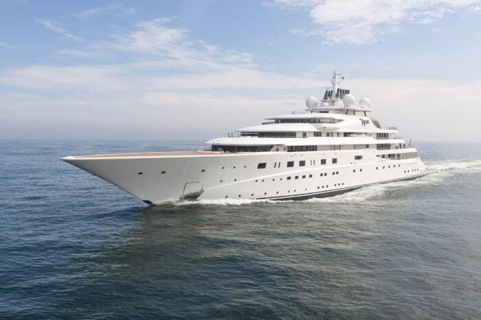 A+ Yacht - one of the biggest superyachts in the world