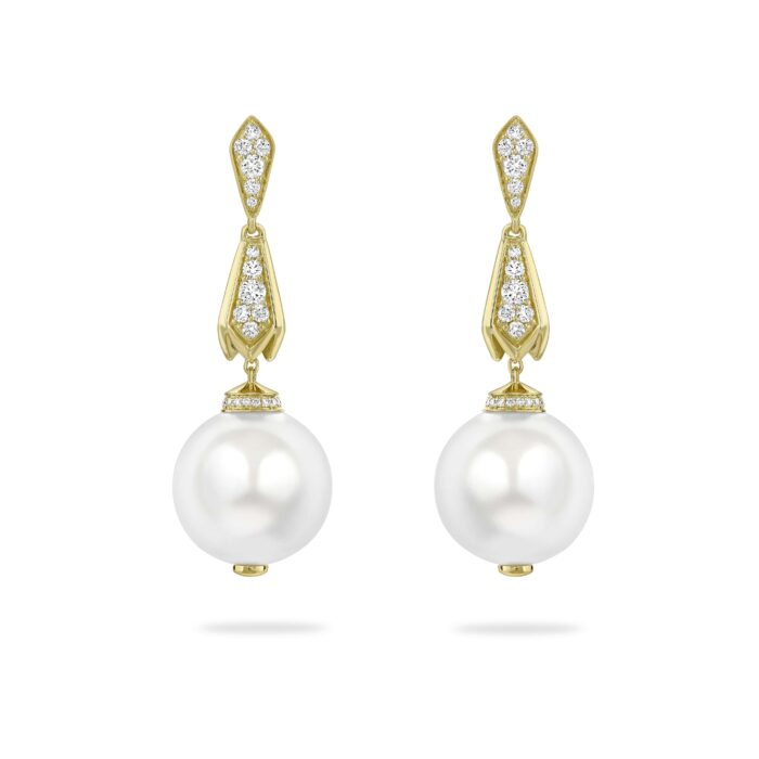 boodles pearl earrings with SMO gold