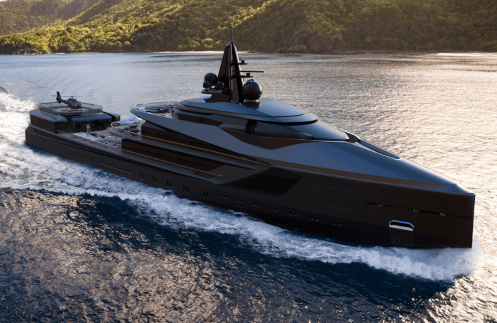 oceanco yacht builders esquel project on water