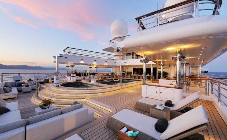 Deck on Yacht, Octopus