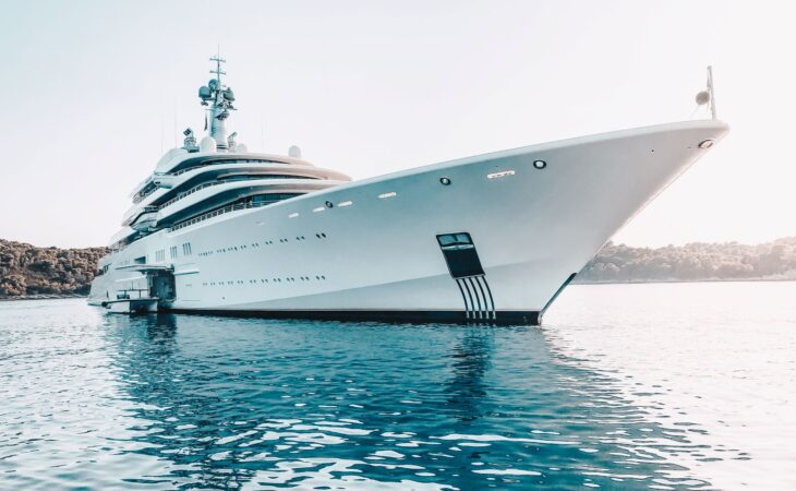 Front of the yacht Eclipse