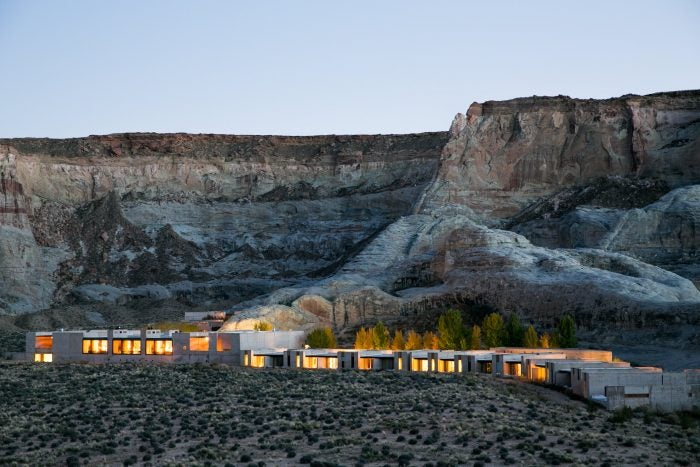 amangiri resort at dusk