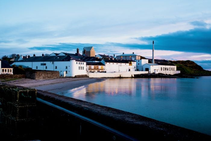 Bowmore Distillery on the waters edge in Islay