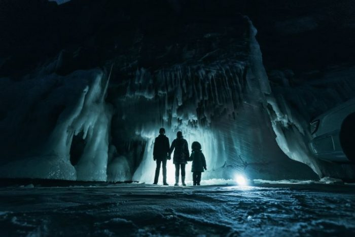 Family in Ice Cave - Family Vacation