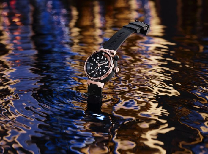 Tambour Street Diver Black and Pink-Gold