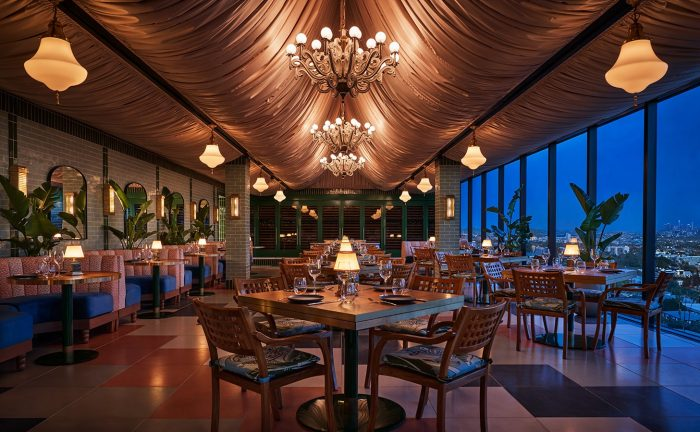 Pendry West Hollywood's Merios Restaurant dining room
