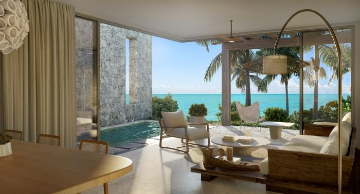Living Space Within Villa - The Strand