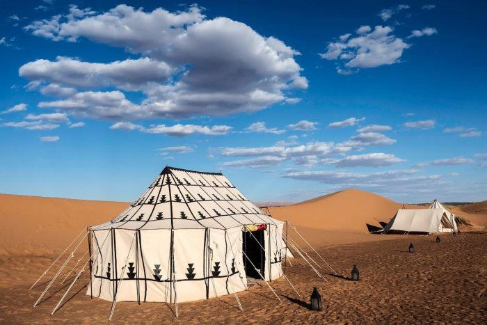 Tent in desert camp