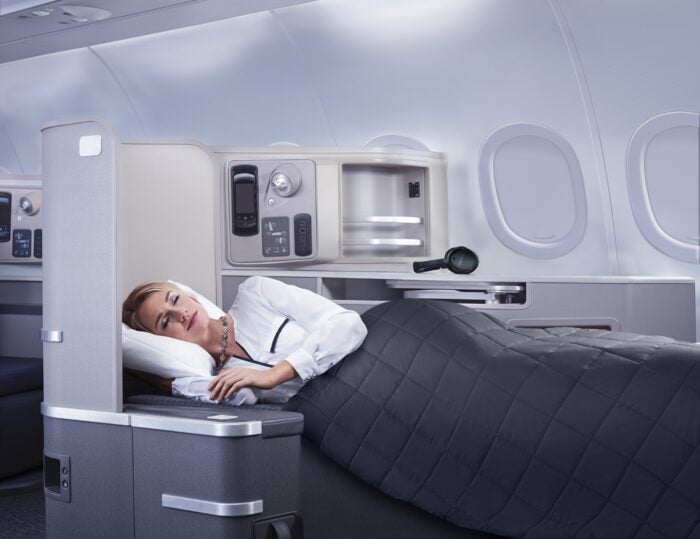 Lie-flat seat American Airlines