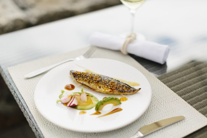 locally caught mackerel dish at the idle rocks st mawes