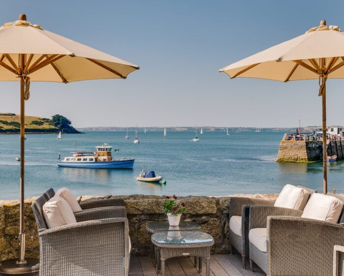 view of the ocean from st mawes terrace