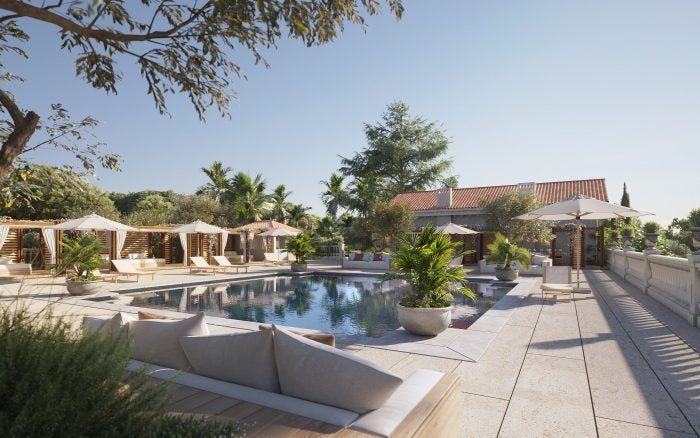 ultima cannes poolside area and pool