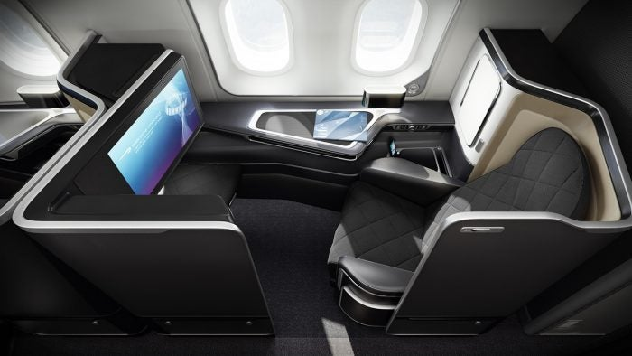 British Airway's first class cabin seating