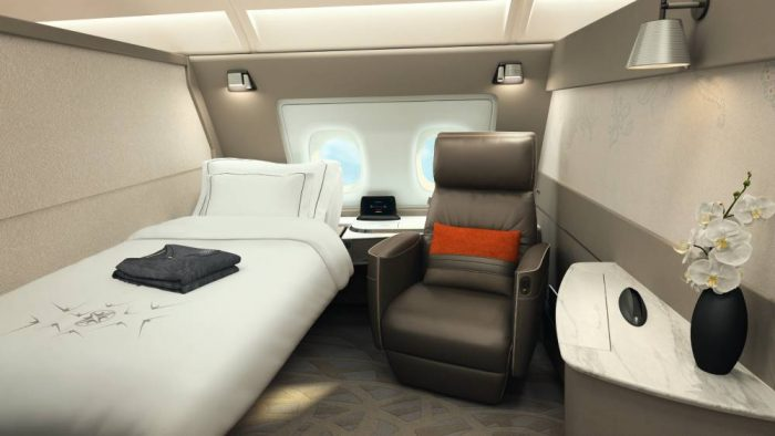 One of Singapore Airline's famous suites