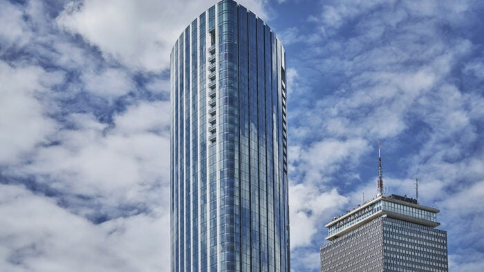The Building towers over the Boston Skyline